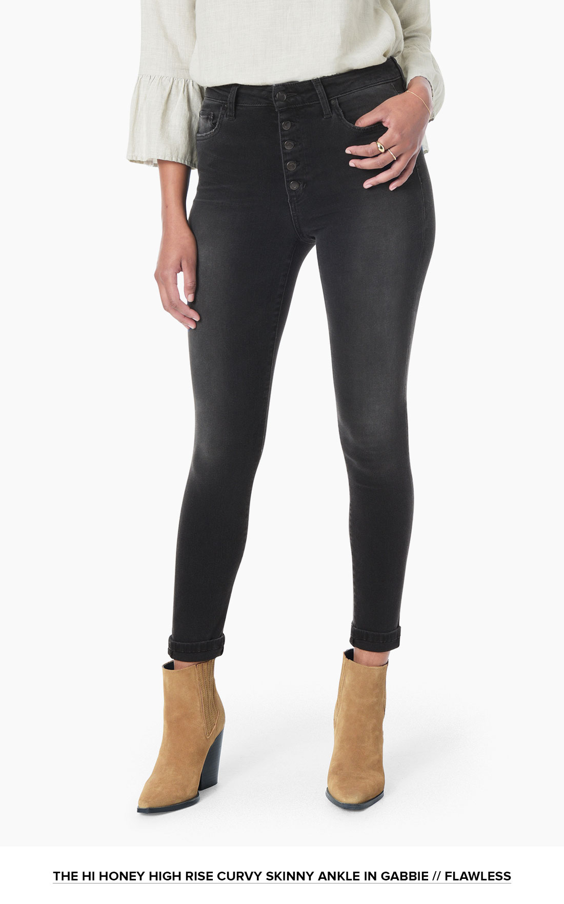High Rise Curvy Skinny Ankle // Buttonfly // Flawless // Gabbie