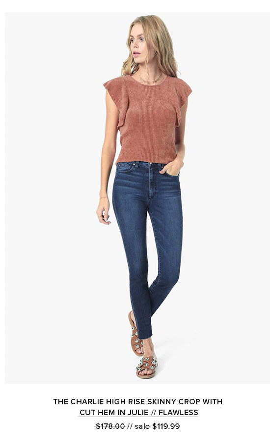 The Charlie High Rise Skinny Crop With Cut Hem In Julie // Flawless