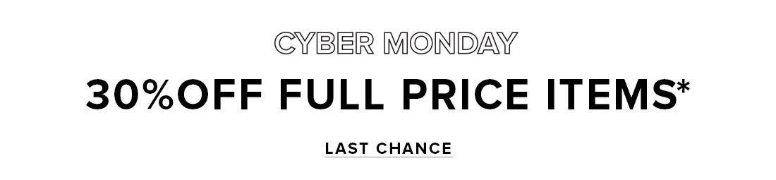 Last Chance Cyber Monday