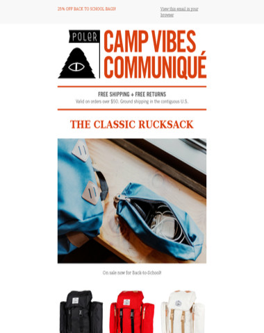 The Classic Rucksack | Back-to-School Sale