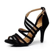 Women's Suede Heels Sandals Pumps Latin Dance Shoes (053063328)