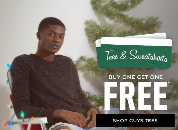 buy one get one free tees and sweatshirts shop guys tees