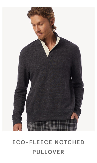 Eco-Fleece Notched Pullover