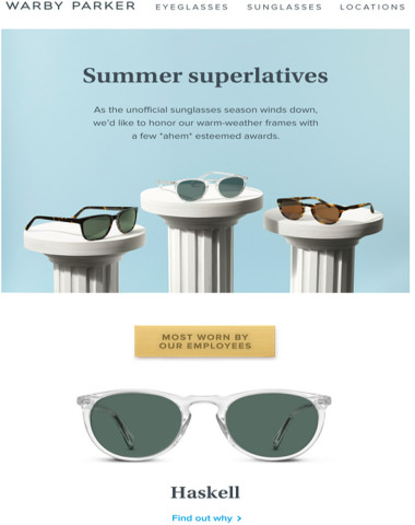9ab37004f60 Warby Parker - Best new tortoise goes to…