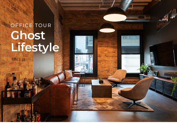 Ghost Lifestyle:Step inside this industrial open office in Chicago's River North district. | Take the Tour