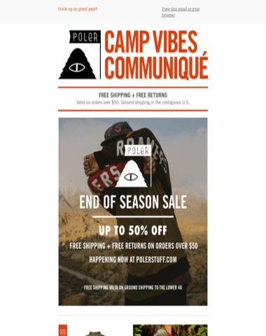 End of Season Sale | Up to 50% off!