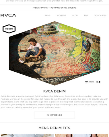 Introducing New RVCA Denim
