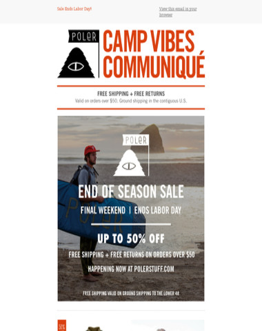 Final Weekend | End of Season Sale