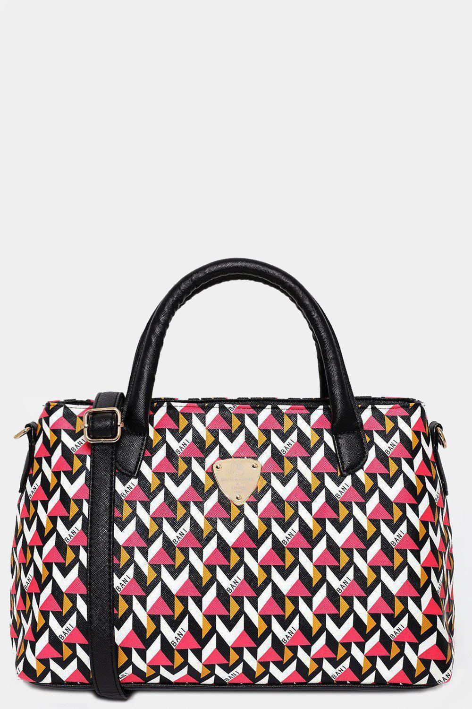 Pink 3D Print Shoulder Bag