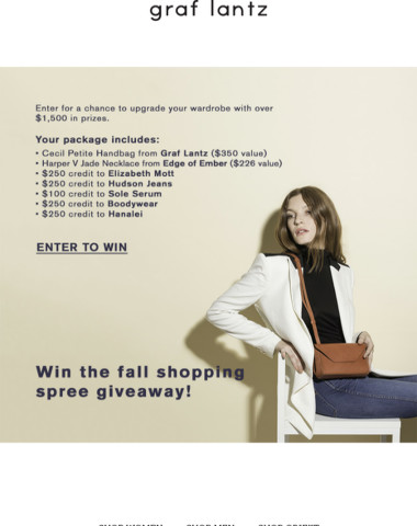 Win the Fall Shopping Spree Giveaway!