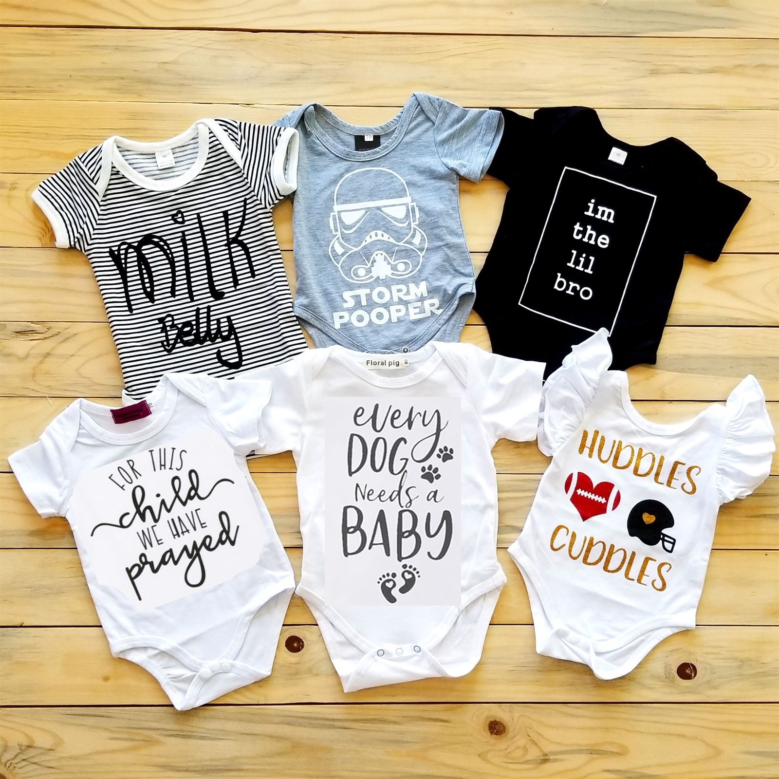 Witty &Cute Baby Bodysuits