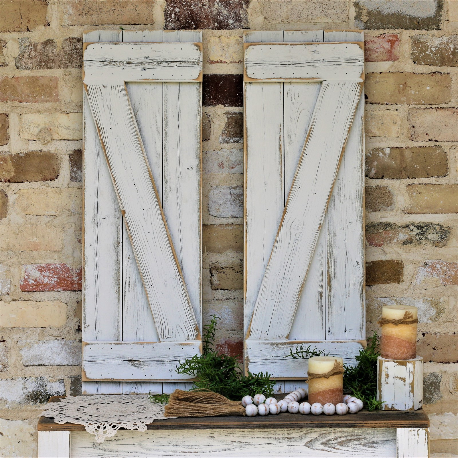 Barn Style Wall Shutters | 2 Colors