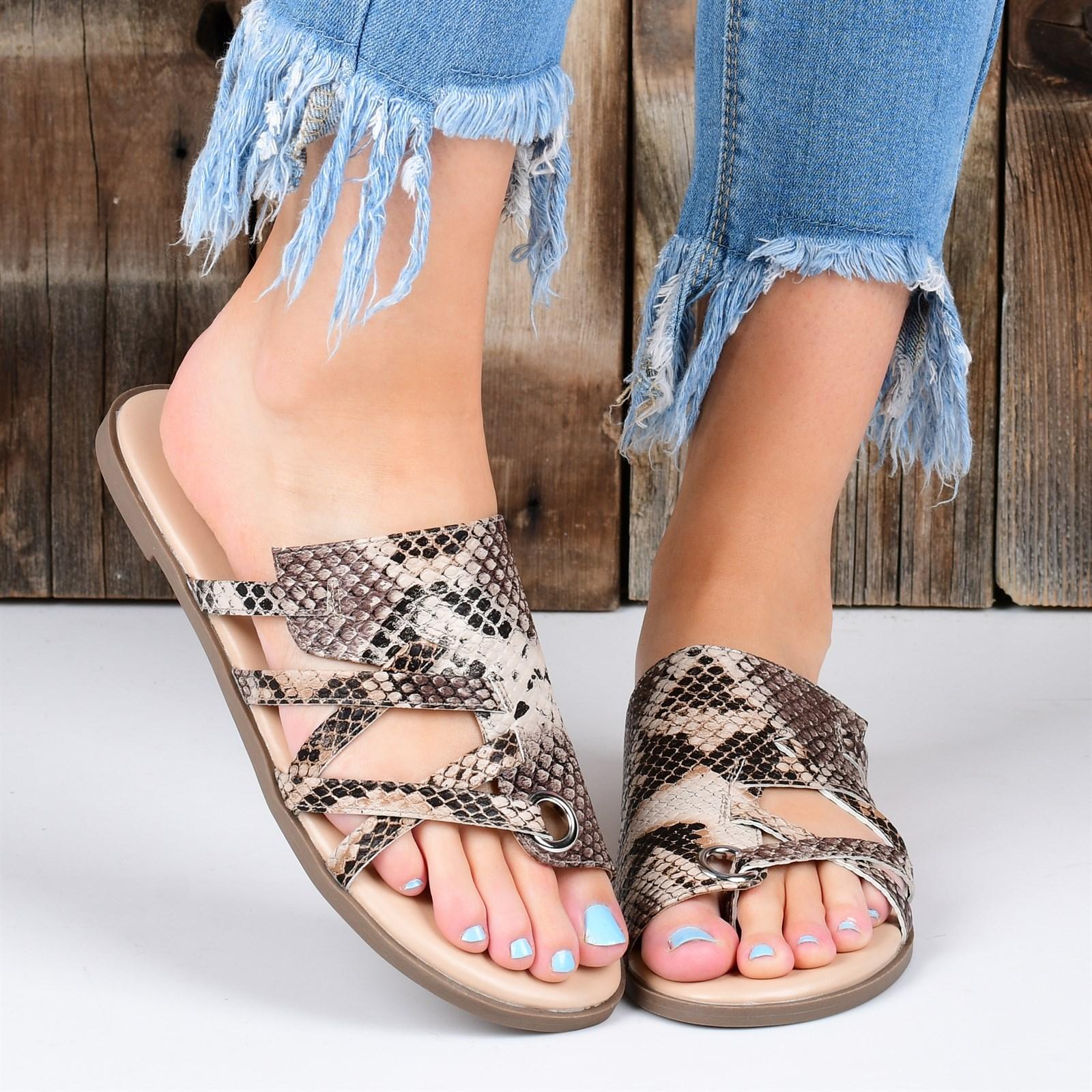 Grommet Strappy Sandal