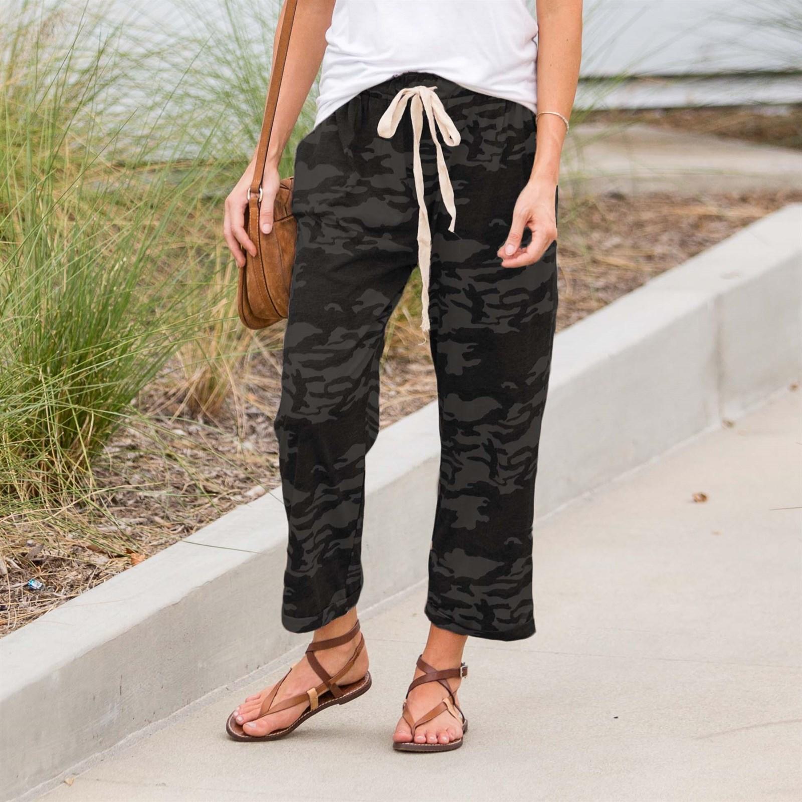 Cropped Camo Lounge Pants
