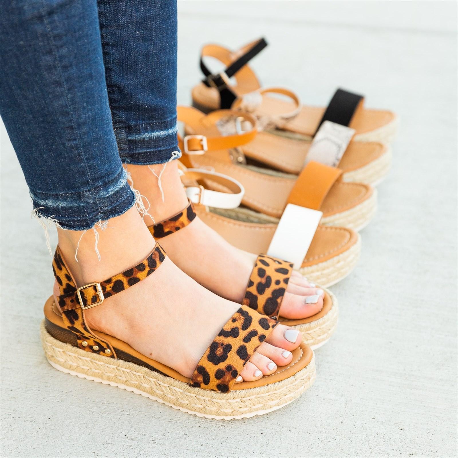 Chic Espadrille Platform Sandals