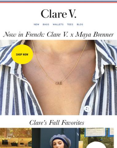 Oui Oui—Maya Brenner x Clare V.