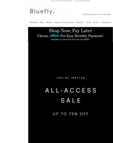 YOU'RE INVITED: All-Access Sale Up To 75% Off Prada, Valentino, Alexander McQueen & More