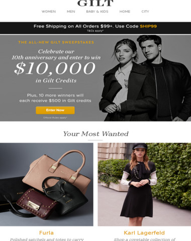 Furla, Karl Lagerfeld and More Start Now