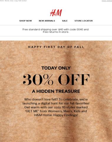 24 hrs! 30% off a hidden treasure