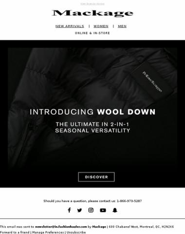 Introducing Wool Down