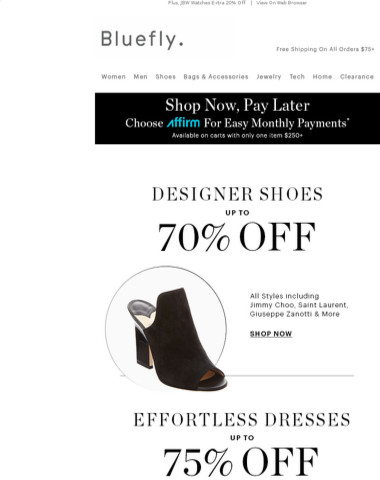 HAVE. IT. ALL. Up To 70% Off Designer Shoes, Up To 65% Off Designer Handbags, Up To 75% Off Dresses & MORE