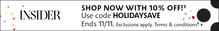 10% off use code HOLIDAYSAVE ends 11/11
