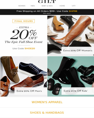 Final Hours! Extra 20% Off: The Epic Fall Shoe Event