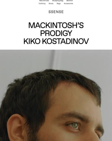 Mackintosh's Prodigy Kiko Kostadinov: See this week's features