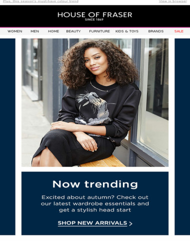 Trending: SALE coats, 60% off dresses and autumn new arrivals