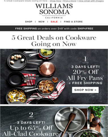 Up to 65% Off ALL-CLAD, LE CREUSET, STAUB & More