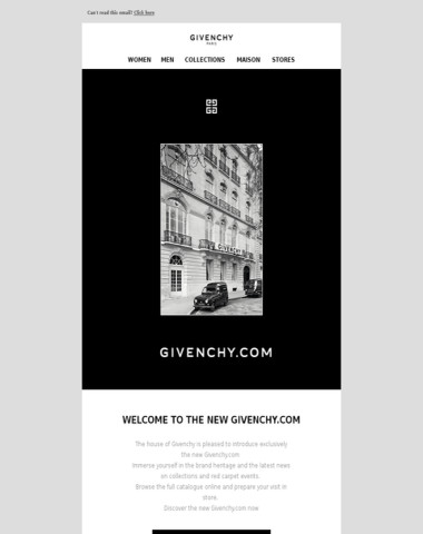 Welcome to the new Givenchy.com