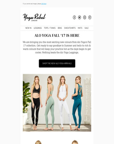 New in from Alo Yoga