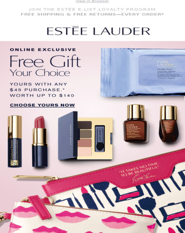 It's Back! Choose Your Free Gift. Worth Up To $140, with your purchase.