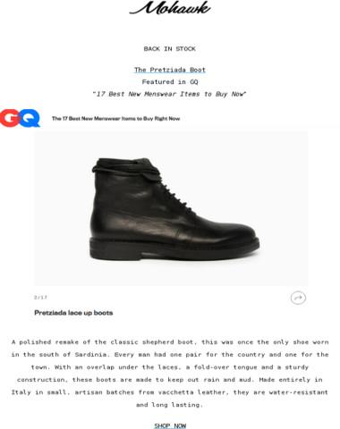 BACK IN STOCK | Pretziada Boots GQ