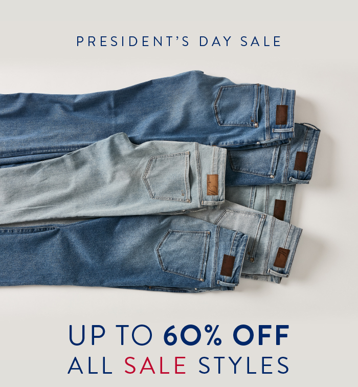 PRESIDENT'S DAY SALE 60% OFF