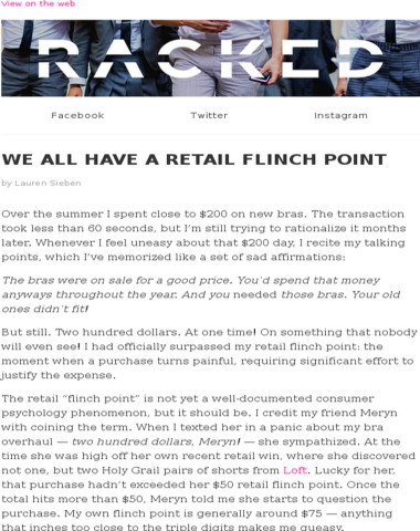 What's Your Retail Flinch Point?