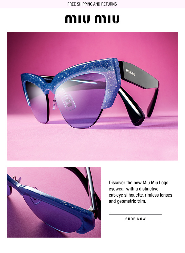 New Miu Miu Logo eyewear
