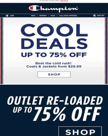 Brrr-eak Out The Jackets, Up To 75% Off & Going Fast.