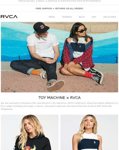 New Women's Toy Machine x RVCA Collection