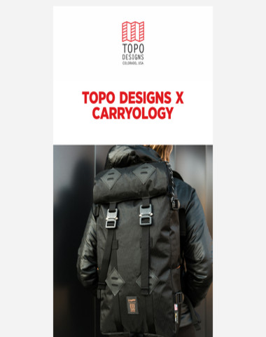 Introducing the Topo Designs x Carryology Klettersack