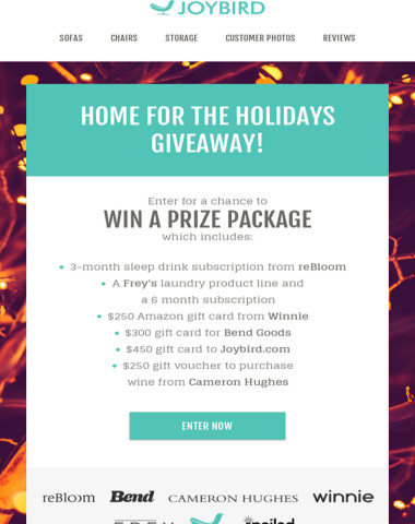 Home for the Holidays Giveaway -- Enter for a chance to win!
