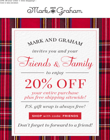 Hey Friends & Family! Get 20% off your purchase + free shipping!