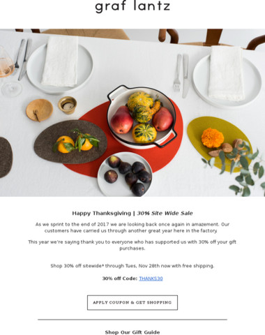 We Are Thankful For You | Shop 30% Off